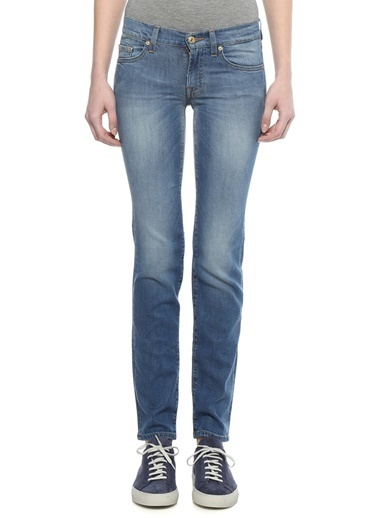 7 For All Mankind Jean Pantolon Mavi